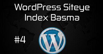 WordPress Siteye Index Basma