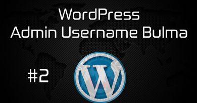 WordPress Admin Username Nasıl Bulunur?