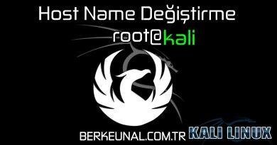 Host Name Değiştirme