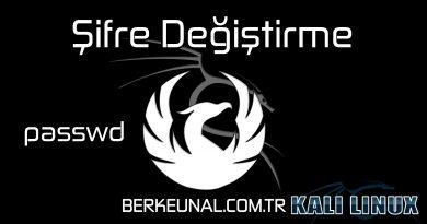 Kali Linux Şifre Değiştirme