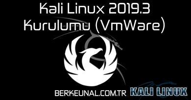 Kali Linux 2019.3 Kurulumu