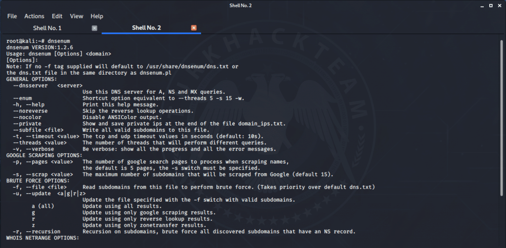 DNSenum Aracı Kali Linux