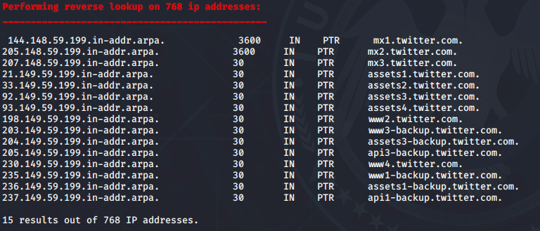 Reverse Lookup DNSenum Aracı