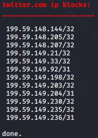 DNSenum Aracı  IP Blocks
