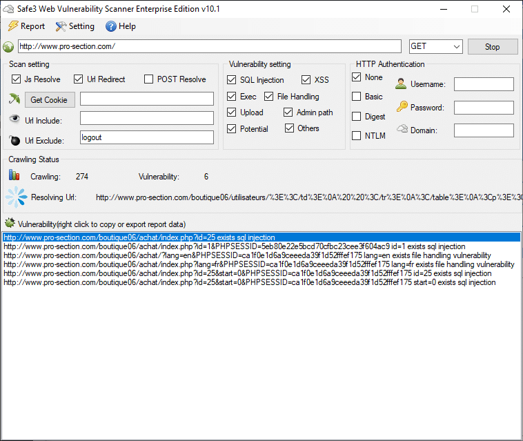 Safe 3 Hedef Sitede SQL Açığı Tespiti