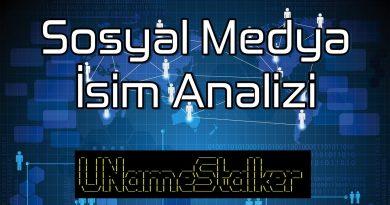 Sosyal Medya İsim Analizi - UNameStalker