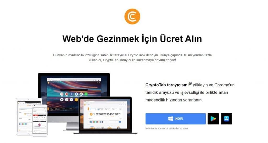 CryptoTab Browser Nasıl İndirilir