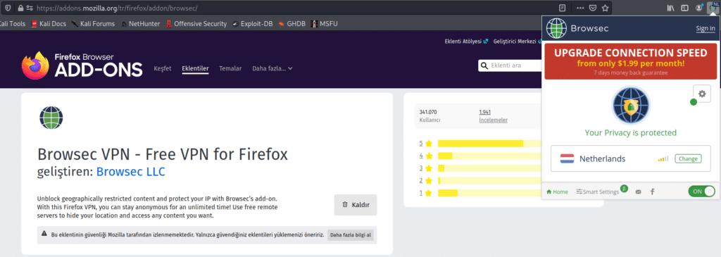 Firefox VPN Eklentisi Nasıl Kurulur